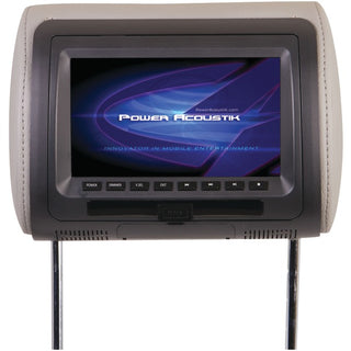 "Power Acoustik HDVD-71CC 7"" LCD Universal Headrest Monitor with DVD, IR & FM Transmitters & 3 Interchangeable Skins"