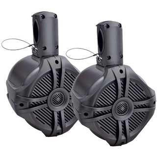 "Marine-Grade 8"" 750-Watt Wake Tower Enclosure & Speaker System (Titanium)"