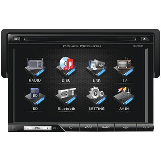 "Power Acoustik PD-710B 7"" Single-DIN In-Dash LCD Touchscreen DVD Receiver with Detachable Face (With Bluetooth)"