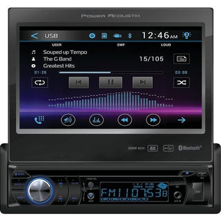 "7"" Single-DIN In-Dash Motorized LCD Touchscreen DVD Receiver with Bluetooth(R)"