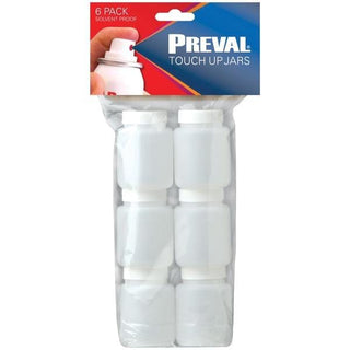Preval 0271-1 2.94-Ounce Touch-up Jars, 6 pk