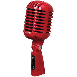 Classic Retro Vintage-Style Dynamic Vocal Microphone (Red)
