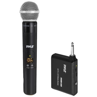 UHF Wireless Microphone System with Handheld Microphone, Wireless Transmitter and Universal Plug-and-Play Audio