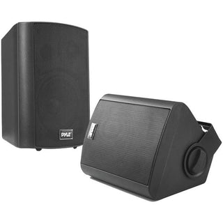 "Pyle Home PDWR52BTBK 5.25"" Indoor-Outdoor Wall-Mount Bluetooth Speaker System (Black)"