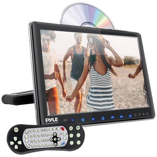 "Pyle PLHRDVD904 9.4"" LCD Universal Headrest Monitor with DVD-CD Player & IR & FM Transmitters"