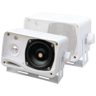 "Hydra Series 3.5"" 200-Watt 3-Way Weatherproof Mini-Box Speaker System (White)"