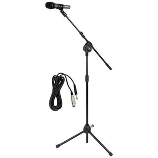 Microphone & Tripod Stand with Extending Boom & Microphone Cable Package