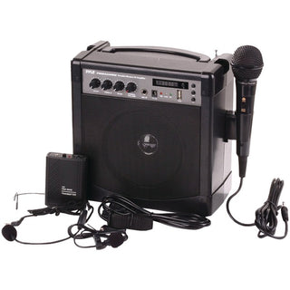 Portable Bluetooth(R) Karaoke PA Amp & Microphone System