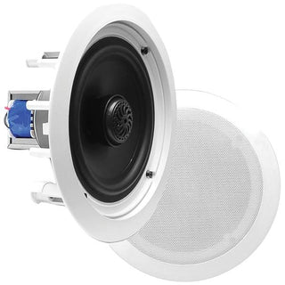 Pyle Home PDIC60T PDIC In-Wall-In-Ceiling 2-Way Flush-Mount Speakers with 70-Volt Transformers