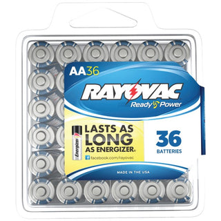 Alkaline Batteries Reclosable Pro Pack (AA, 36 pk)