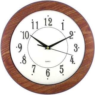 "12"" Wood Grain Round Wall Clock"
