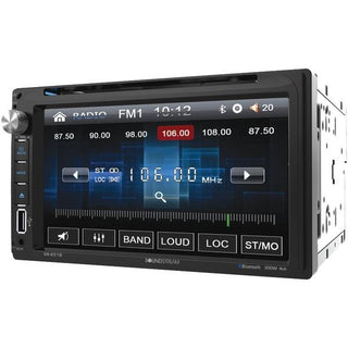 "6.5"" Double-DIN In-Dash DVD Receiver with Bluetooth(R)"