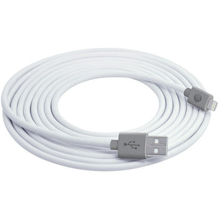 Charge & Sync USB Cable with Lightning(R) Connector, 10ft (White)