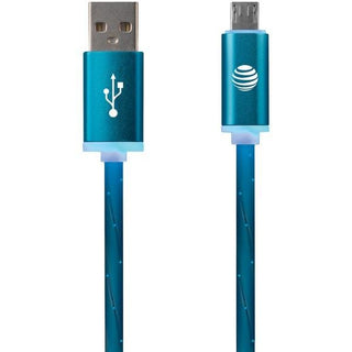 Charge & Sync Illuminated USB to Micro USB Cable, 3ft (Blue)