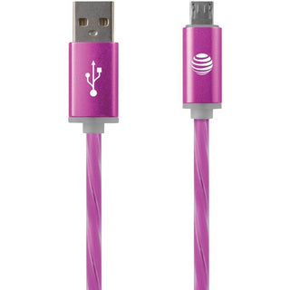 Charge & Sync Illuminated USB to Micro USB Cable, 3ft (Pink)