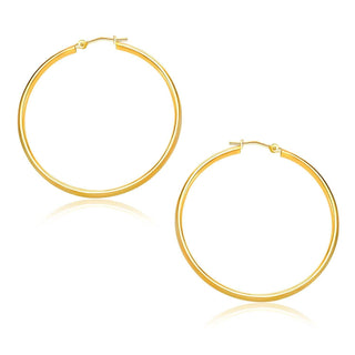 10k Yellow Gold Polished Hoop Earrings (30mm)
