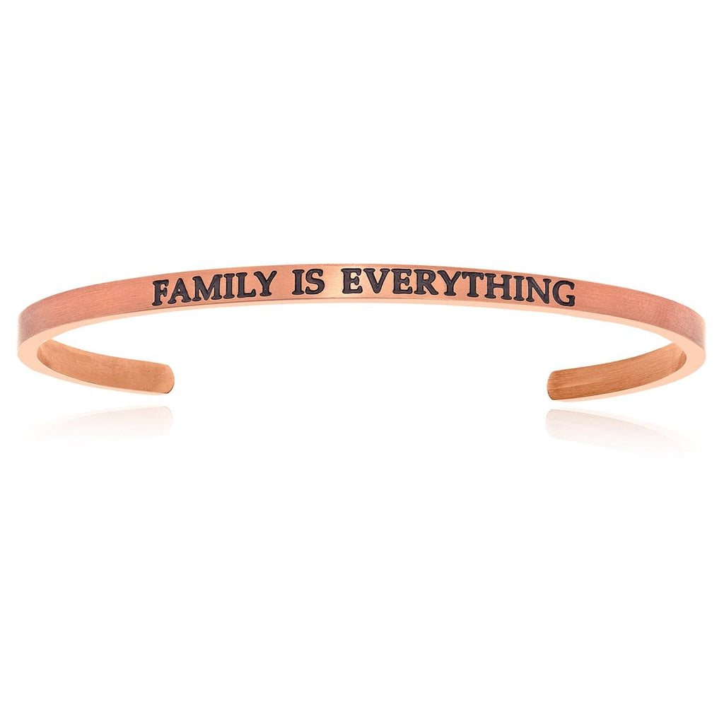Pink Stainless Steel Family Is Everything Cuff Bracelet