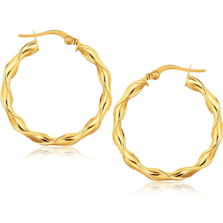 14k Yellow Gold Hoop Earrings (1 1-8 inch)