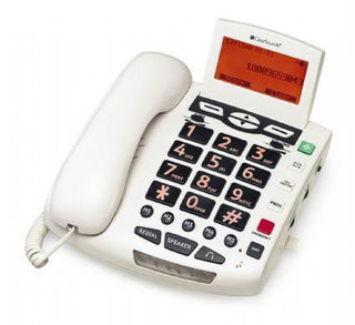 Amplified Bigbutton Spkrphone 50db White