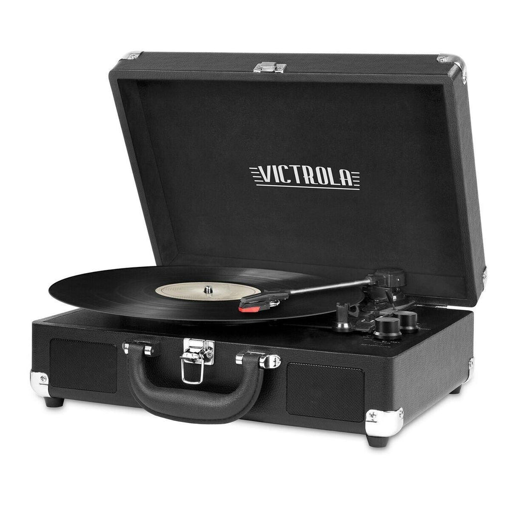 Bluetooth Suitcase Turntable In Black