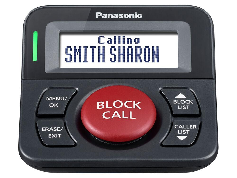 Panasonic Call Block Button