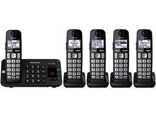 Cordless Phone With Itad And 5 Handsets