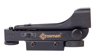 Crosman Red Dot Sight Large Lens For Increased Field Of Vision Battery Included