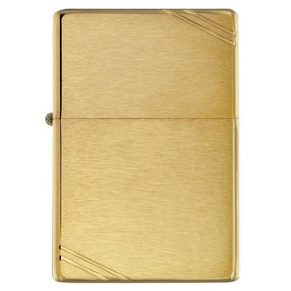 Zippo Windproof Lighter Vintage Brushed Brass W-slashes