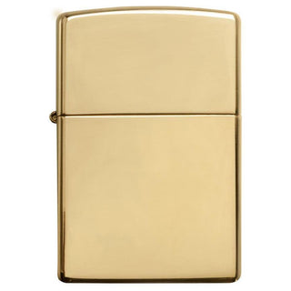 Zippo Windproof Lighter High Polish Brass W-o Solid Brass Engravedhigh Polish Brass