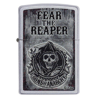 Zippo Windproof Lighter Sons Of Anarchy Satin Chrome Finish