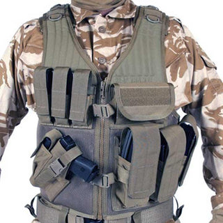 Blackhawk Omega Cross Draw-pistol Mag Vest Coyote Tan Left