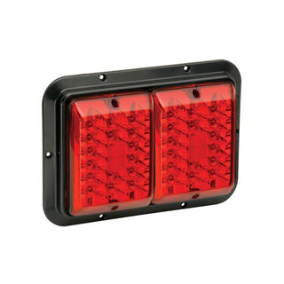 Bargman Taillight 84 Led Surface Mount Red-red Black Base