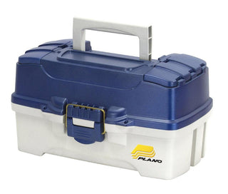 Plano Two-tray Tackle Box - Blue Metallic-off-white