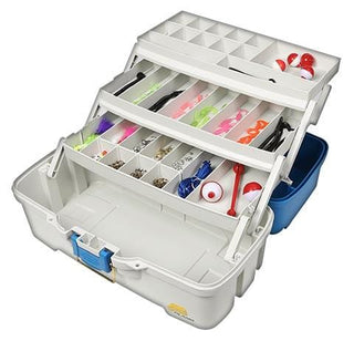 Plano Let's Fish! Three-tray Tackle Box Aqua Blue-tan