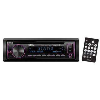 Boss Single Din Cd-mp3 Receivermulti-color Display Bluetooth Usb Front Aux Remote