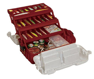 Plano Flipsider Three-tray Tackle Box Maroon-silver