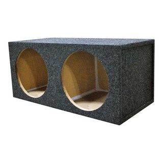 "Empty Woofer Enclosure Obcon Dual 15"" Square Sealed;mdf"