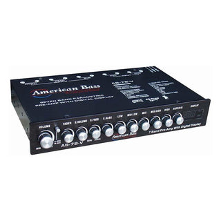 American Bass High End 7 Band Equalizer Voltage Display