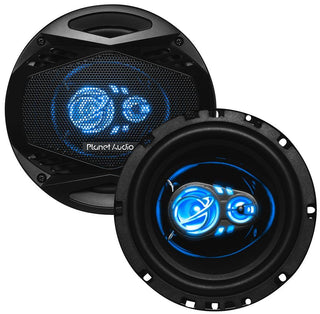 "Planet Audio 6.5"" 300 Watts Max 3 Way Led Illuminated Tweeters"
