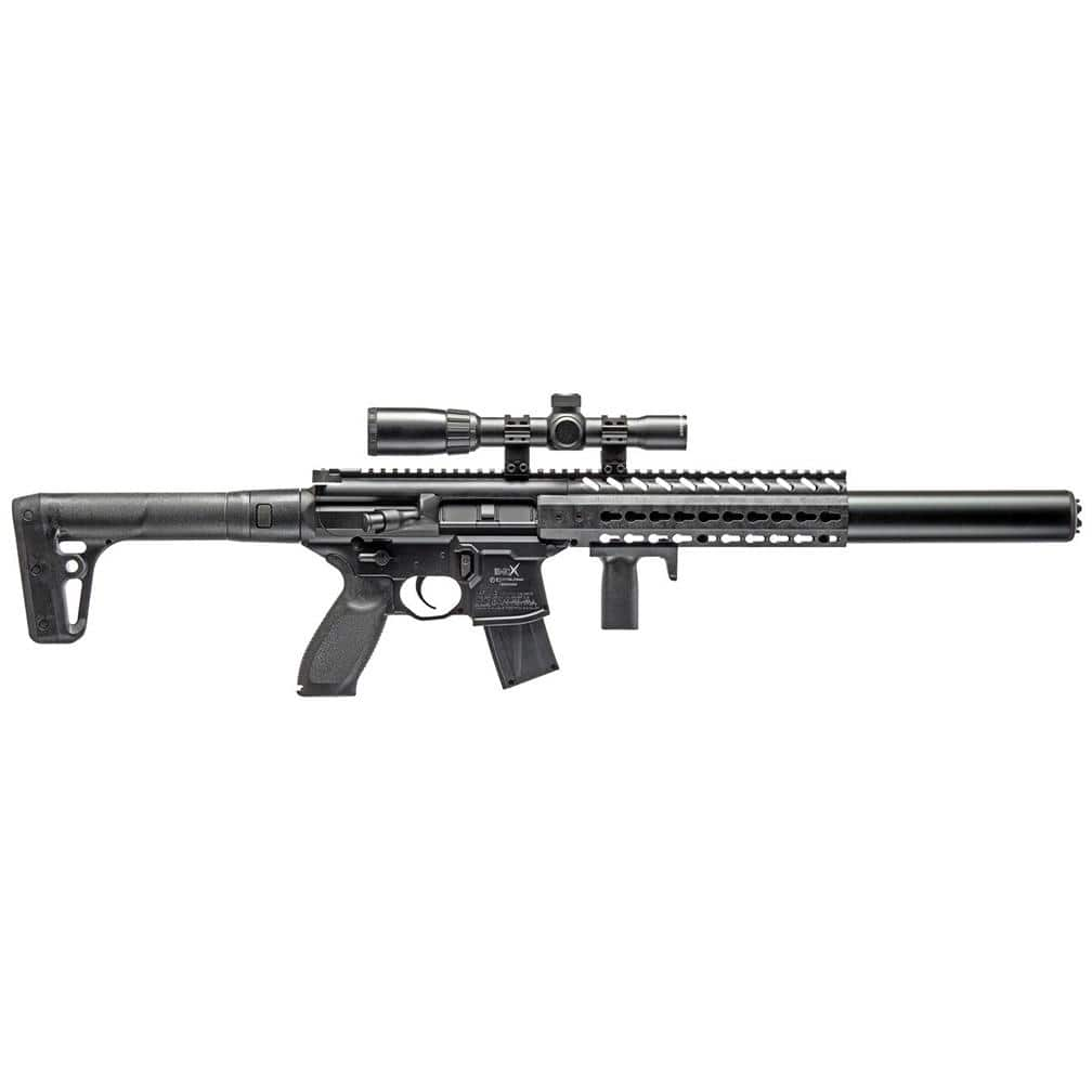 Sig Sauer Mcx .177 Cal Co2 Powered 30 Rounds 14x 24mm Scope Air Rifle Black *airmcxscope17788g30blk*