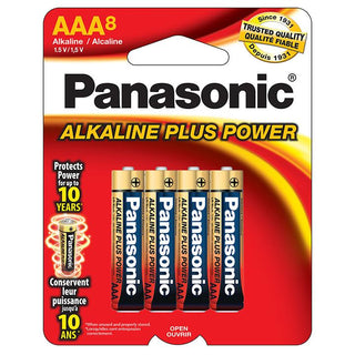 "Panasonic Aklaline Size ""aaa"" Plus Power (8-pack)"