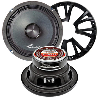 "Audiopipe 6"" Midrange Pair Packed 200 Watts Max"