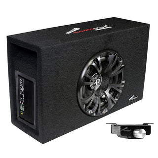 "Audiopipe Single 10"" Amplified Ported Bass Enclosure  1200 Watts"