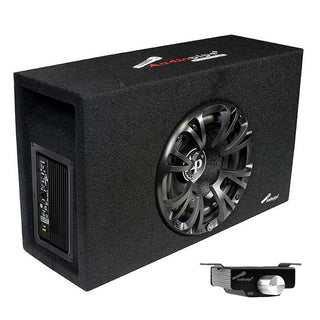 "Audiopipe Single 8"" Amplified Ported Bass Enclosure 800 Watts"