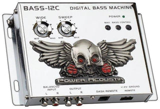 Bass Driver Power Acoustik Chrome;remote;illuminated