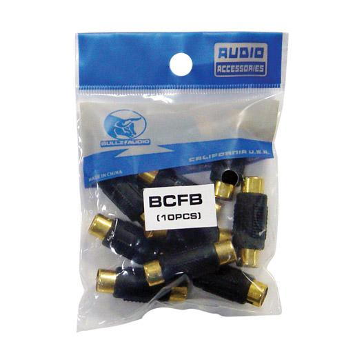 Rca Coupler;female;black;bullzaudio; 10-bag