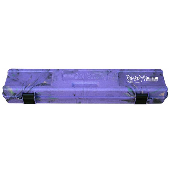 Mtm Crossbow Bolt Case 12 Bolts Up To 23 Inch Purple Camo