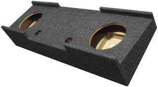 "Empty Woofer Box Qpower Dual 10"" Gmc Crew Cab '07-'13"