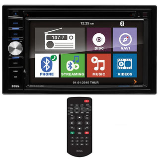 "Boss 6.2"" Ddin Receiver Navigation Bluetooth Dvd-cd Remote"