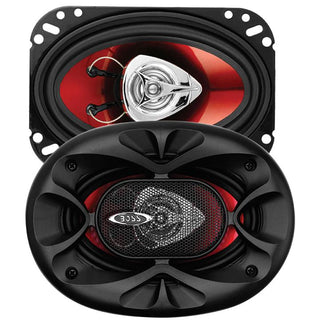 "Boss 4x6"" Speaker 2-way Red Poly Injection Cone"